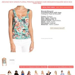 Abound Tops - Abound Floral Square Neck Box Tank